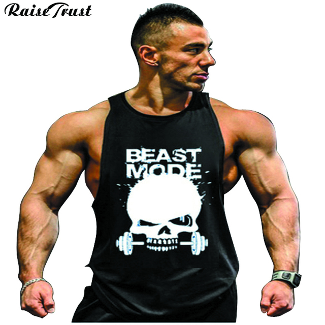 162a112df5e35 Mens sexy cotton tank top men bodybuilding clothing Sleeveless tops vest  fitness Big Size Fit 100KG