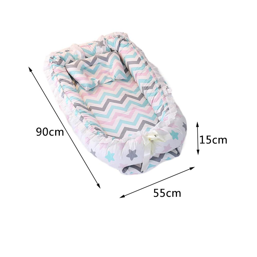 Baby Travel Mattress Us 36 68 29 Off Baby Nest Cartoon Printing Bionic Bed Detachable Washable Portable Baby Bed Multifunctional Travel Crib Newborn Mattress In Baby