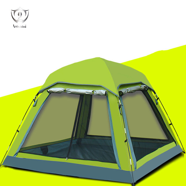 Wnnideo 3-4 Person for Outdoor Camping Hiking Waterproof UV Protection Canopy Tent Wholesale Green