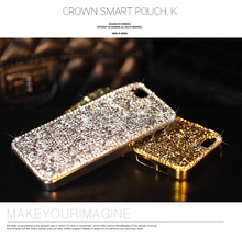 Dower Me Fashion Chrome Crystal Diamond Case For Iphone 6 6S 7 Plus 5 SE 5C Samsung Galaxy Note 5 4 3 S8 S7 S6 Edge Plus S5 S4