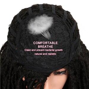 Image 5 - MAGIC Hair 22 Inch Synthetische pruiken Dreadlocks Vlecht Haar Synthetische Dreads Vlechten pruiken Extension Bruin Vlechten Faux Locs Haar