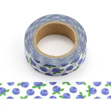 1.5cm * 10m Cute Kawaii Blueberry Fruit Masking Washi Tape DIY Decorative Adhesive Tape For Scrapbooking Decoration cute kawaii lace adhesive washi tape flower decorative masking tape for home decoration photo album free shipping 3645