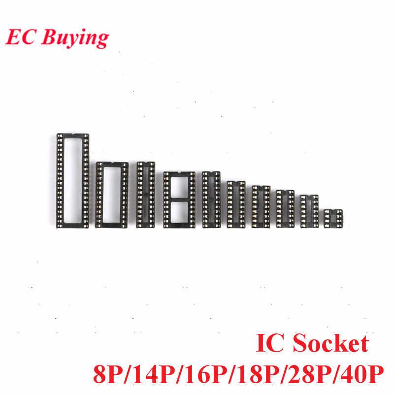 10 PCS SMD IC Socket DIP8 DIP14 DIP16 DIP18 DIP20 DIP28 DIP40 Connettori DIP Presa 8 P 14 P 16 P 18 P 20 P 28 P 40 P Spille