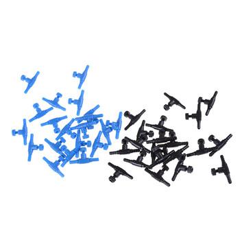 20 sztuk akwarium regulowana lina nadmuchiwana rura objętość kontrola przepływu zawory pompa powietrza tlenu zawór sterujący czarny niebieski 4mm tanie i dobre opinie Regulacji Średniego ciśnienia Standardowy Hydrauliczne Z tworzywa sztucznego
