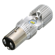 Mayitr 1pc Universal Motorcycle Headlight Bulbs BA20D 20W Dual Side 4LED COB Lamp Scooter ATV Accessories Motor Fog Lights 12V