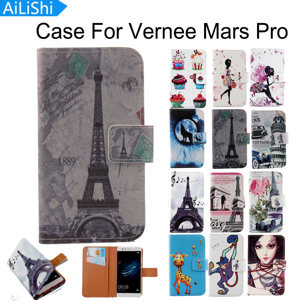AiLiShi For Vernee Mars Pro Case Cartoon Painted Luxury Flip Fashion Leather Case Top Quality Factory Direct + Tracking In Stock