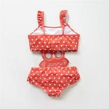 2019 Kavkas Girls Swimwear Cute Kids Swimsuit Infant 12M-8T Kid Baby Girls Bikini Ruffles Swimsuits One Pieces Bath Swimwear