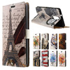 For Lenovo K5 Note Case Tower Feathers Leather Wallet Flip Coque Cover For Lenovo K5 Note