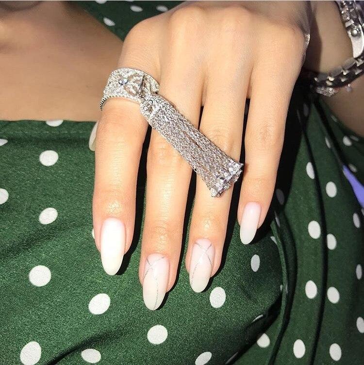 Роскошный дизайн KO, 925 пробы, серебряное кольцо с кисточкой на палец, полое, для женщин, элегантное, солнце, звезда, кисточка, свадебное ювелирное изделие, хорошее ювелирное изделие