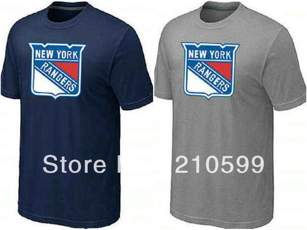 New York Rangers t shirt hockey shirt sport brand t-shirt cheap navyblue  grey tee 14ba6a623db