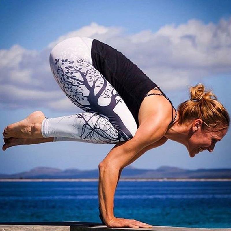 New Women 3D Print Tree Print   Legging   Mid Waist Skinny Pust Up Jeggings Fitness Stretchy Sportswear Full Length Leggin