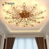 TRAZOS New item fancy ceiling light LED Crystal ceiling lamp modern lamps for living room lights,AC110 240V DIY Crystal lighting