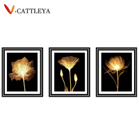 5D Diamond Painting FLOWER Lily Flower Diamond Embroidery Cross Stitch Round Diamond Mosaic Needlework Crafts Christmas