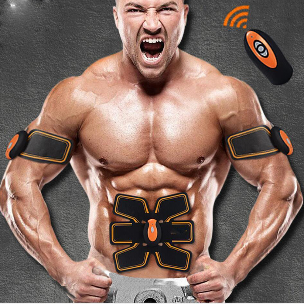 Rechargeable Wireless Abdominal Muscle Toner Electric Stimulator Fit Muscle Massager Back Pain Relief Slimming Flex Belt