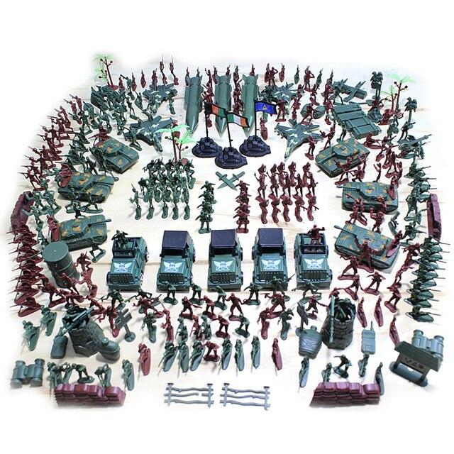 Filas de fogo 301 pçs/lote 5 Cm De Plástico soldado Modelo De Segunda Guerra Mundial Soldado Militar set Brinquedo para crianças