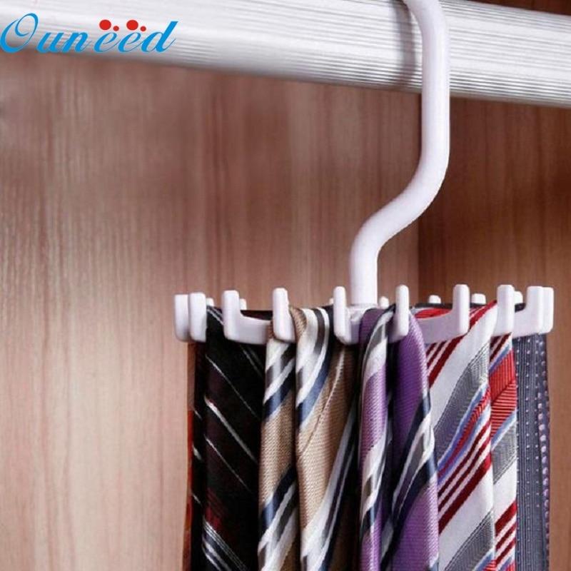 Apr 29 Mosunx Business Rotating 20 Hooks Belt Neck Tie Holder Rack Hanger Organizer Space Saving