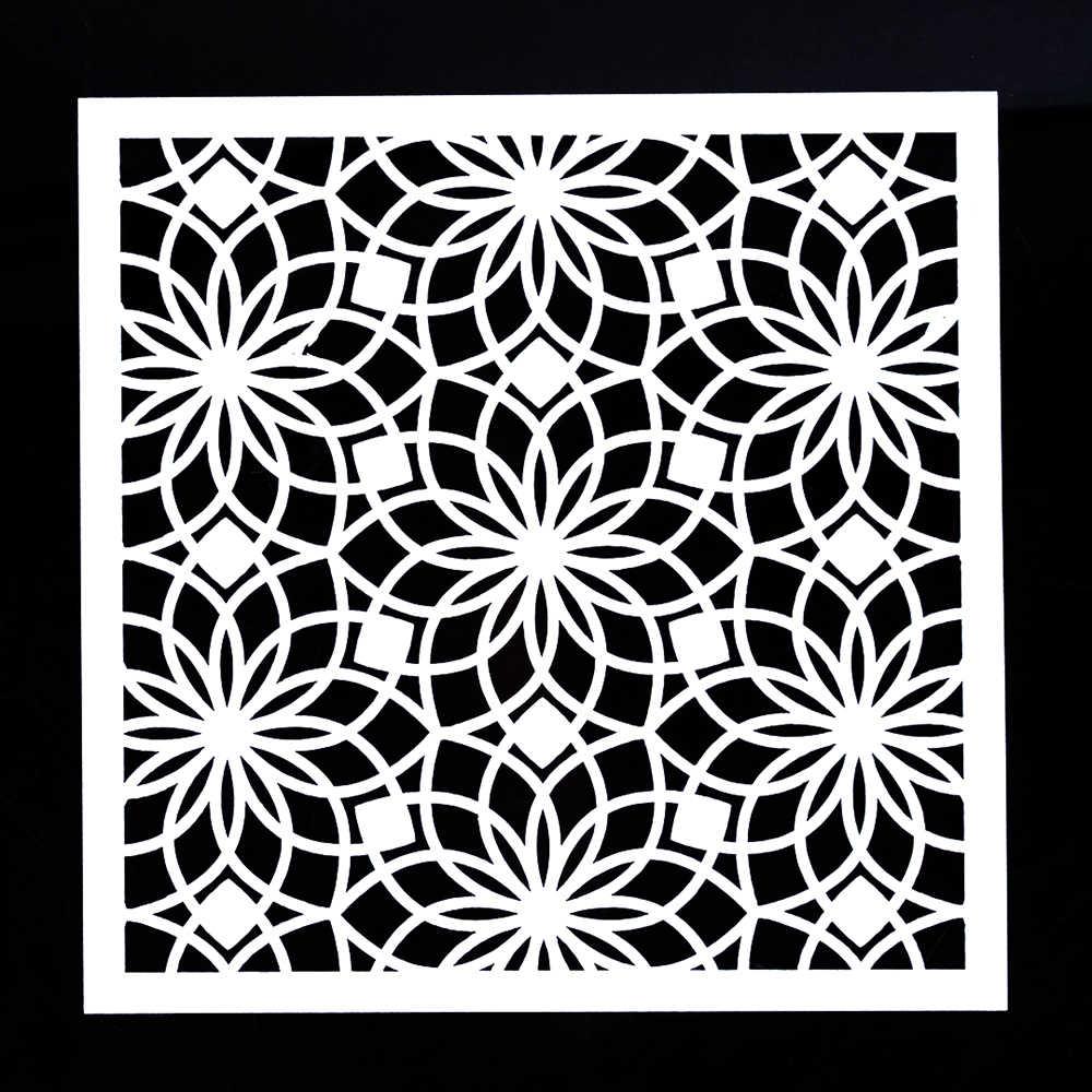 13 cm 30 cm 40 cm DIY Ambachten Kerala Allover Stencil voor Schilderen Scrapbooking Embossing Papier Kaarten Template Scrapbooking Tool