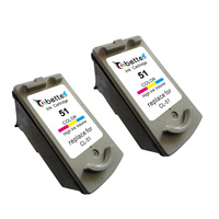 Inkjet Printer Ink Cartridge For Canon CL 51 CL51 Canon PIXMA IP2200 IP6220D IP6210D MP150 MP160