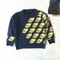 Дети свитер Дети зимой прогревается свитера Девушки с длинными рукавами о-образным вырезом трикотажные топы Мальчики Руно подкладка пуловер бесплатная доставка