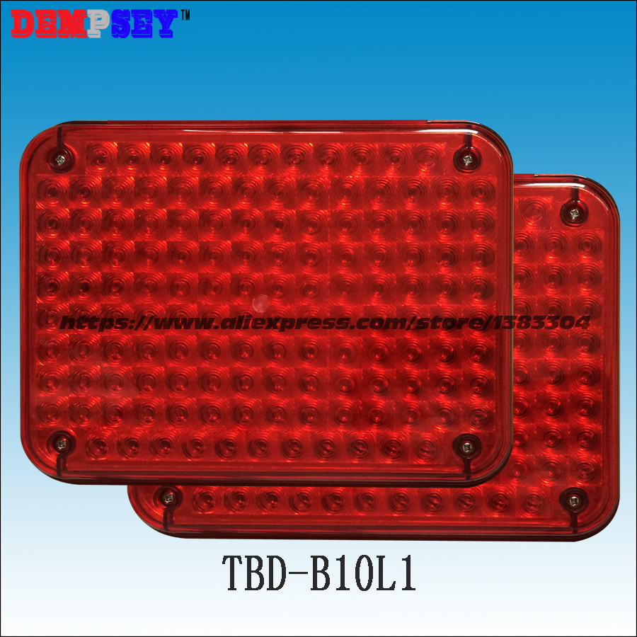 TBD-B10L1 High quality warning lights for fire truck&ambulance car,surface mounting,Waterproof, DC12V or 24V, red/red 134 LEDs a975got tbd b