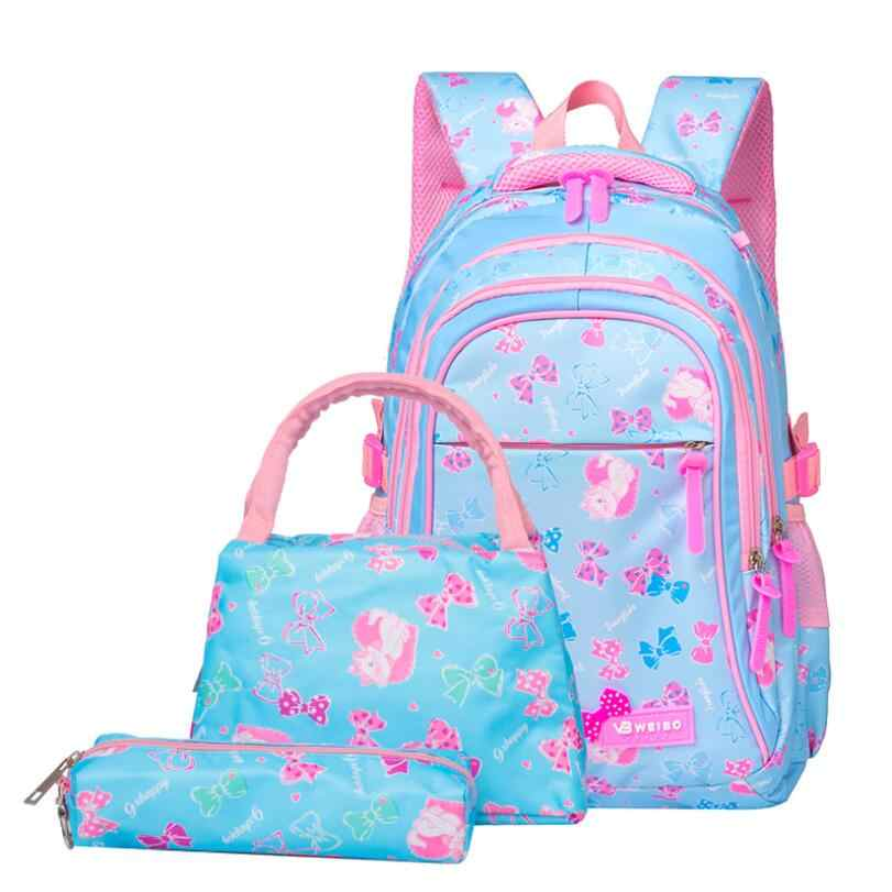 Детские рюкзаки с принтом, комплект, школьный рюкзак, водонепроницаемые детские школьные сумки для девочек, школьные рюкзаки принцессы, Детские рюкзаки, Mochila Infantil