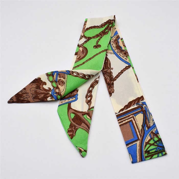 HTB1EDQPdlWD3KVjSZFsq6AqkpXa1 - Small Silk Scarf For Women New Print Handle Bag Ribbons Brand Fashion Head Scarf Small Long Skinny Scarves Wholesale