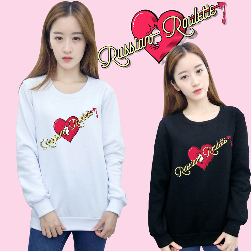 KPOP RedVelvet Album RUSSIAN ROULETTE Irene Seulgi Wendy With Men And Women Sweater Dropshipping