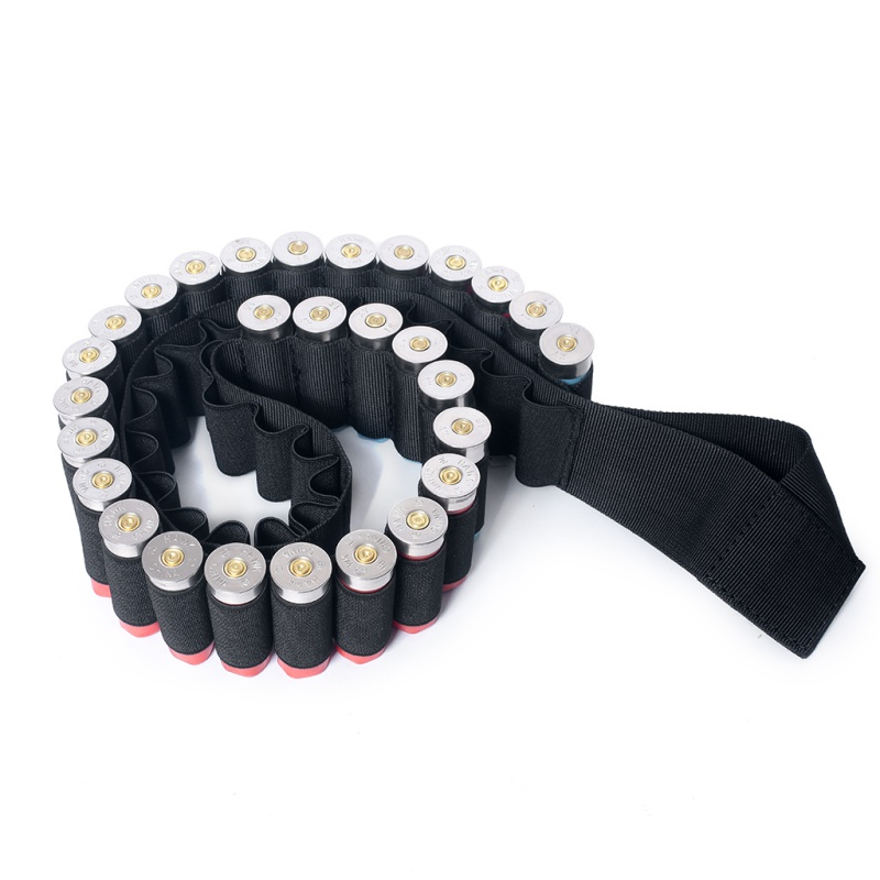 50 Shell Bandolier Belt 12 GA 20GA Tactical Hunting Ammo Carrier Airsoft Adjustable Rifle Cartridge Belt Shoulder Belt in Pouches from Sports Entertainment