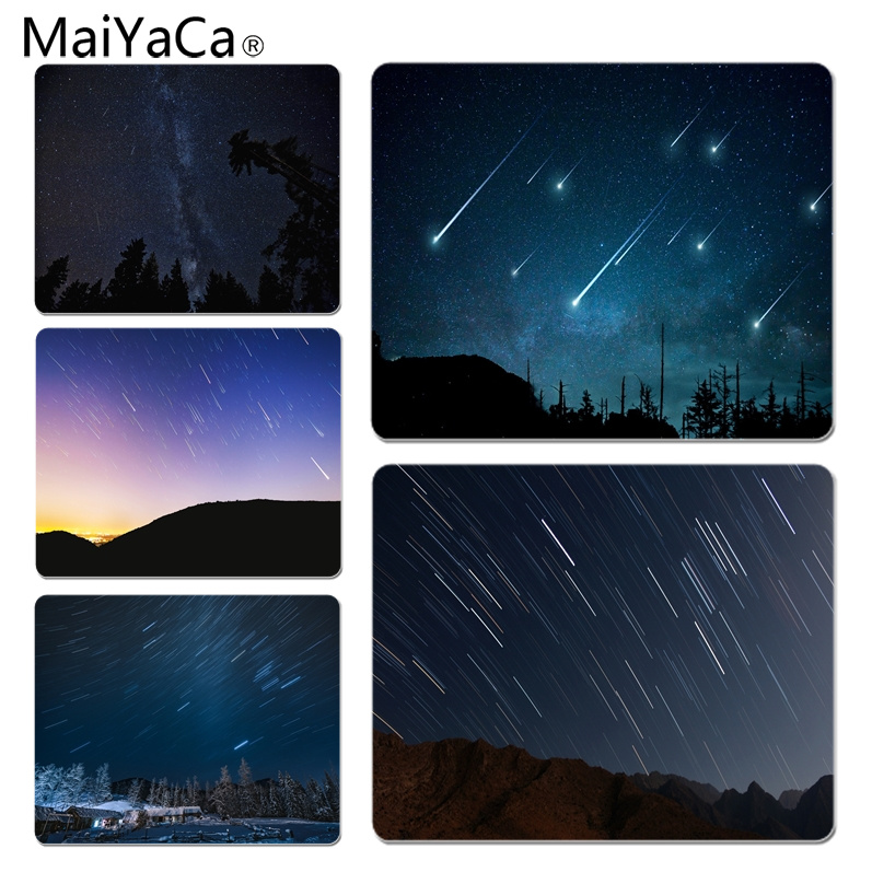 MaiYaCa Meteor Shower Under The Night Silicone Pad to Mouse Game Size for 25X29cm Gaming Mousepads