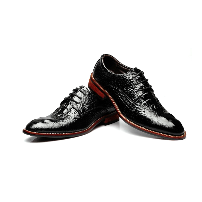 Mingpinstyle Crocodile Pattern Men Luxury Dress Shoes Italian MenWedding  Black Lace Up OxfordLeather Shoes Big Size Formal Shoes-in Formal Shoes  from Shoes ... a3174b3091b7