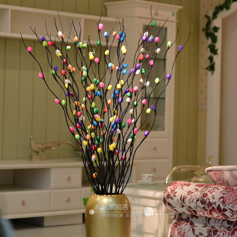 Mikie dried flowers decoration flower artificial flower French rich peach 4 rich peach multicolor