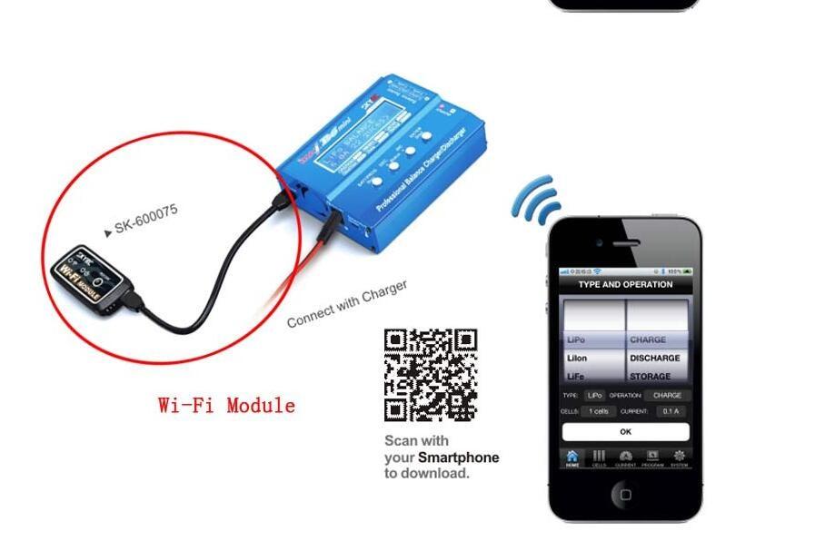 1 pc SKYRC sk-600075 Module WiFi Compatible avec L'original Imax B6 Mini B6AC V2 D100 TS ESC Pour RC Helicopetr pièces de rechange