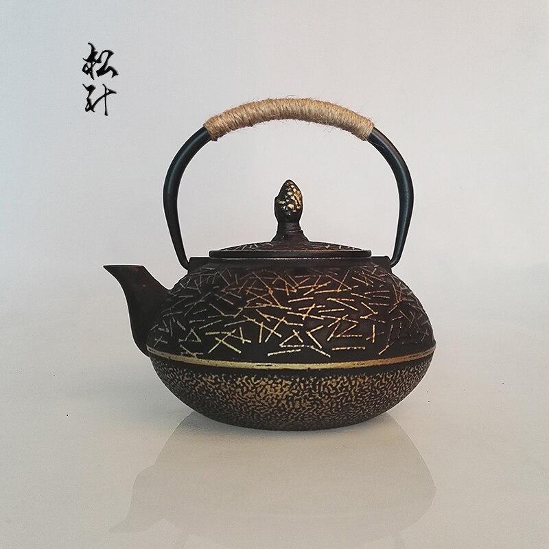 Бесплатная доставка модный стиль чайник, кухня питьевой ware чугунные чайник, 900 мл традиционная китайская чайники