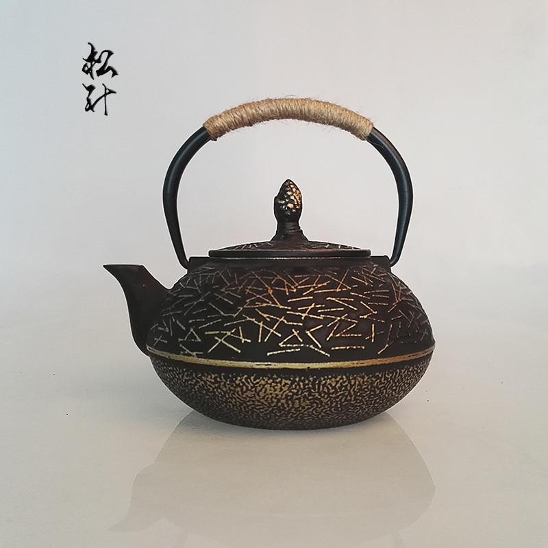 Pulsuz çatdırılma Moda tərzi çaydanı, mətbəx içməli qab çuqun çay qabı, 900ml Çin ticarət çaydanları