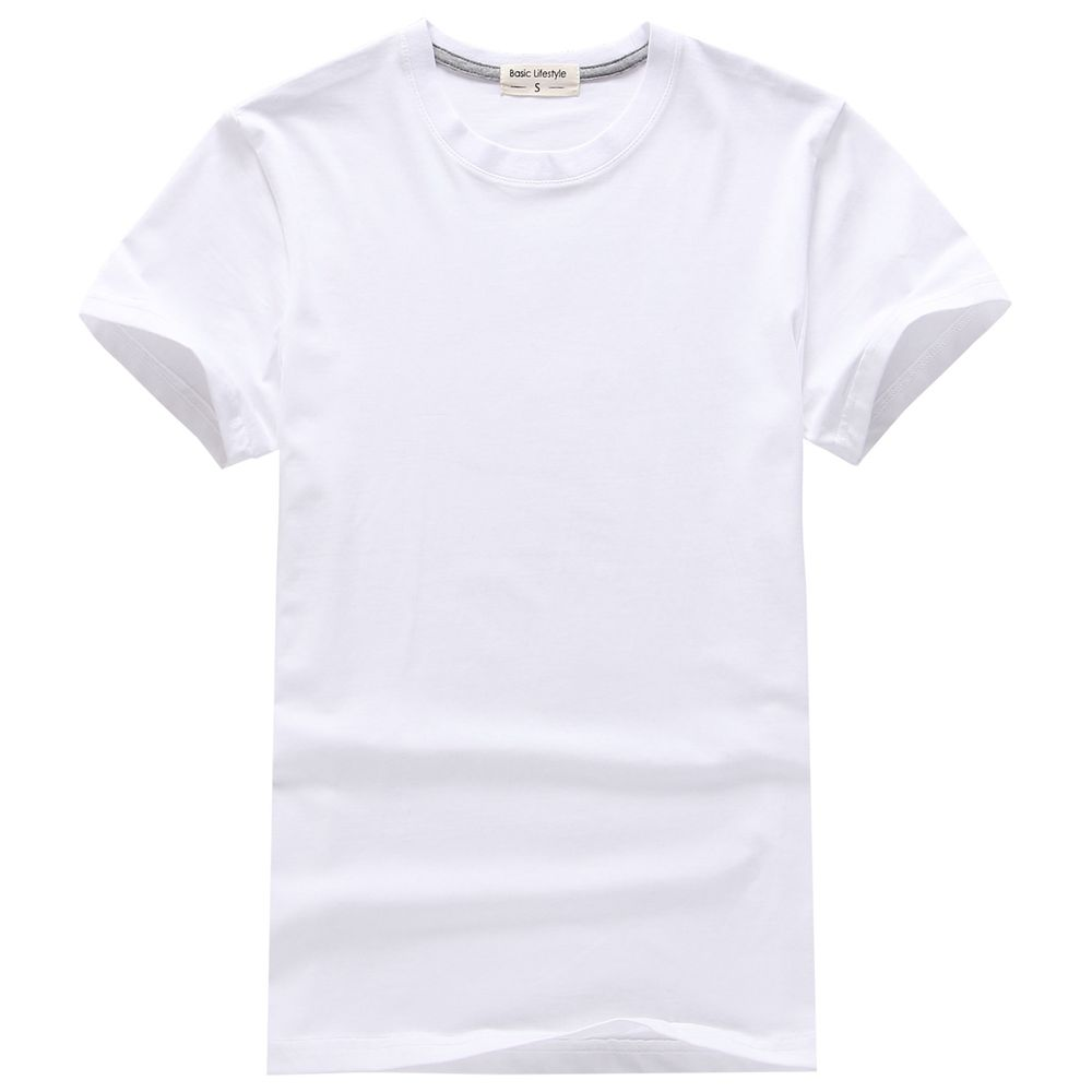 Black t shirt xxl - European Size Xxl Cotton O Neck Men S Top Short Sleeve Tees Men Casual White Plain T Shirt Solid Color Bottoming Black Tshirt