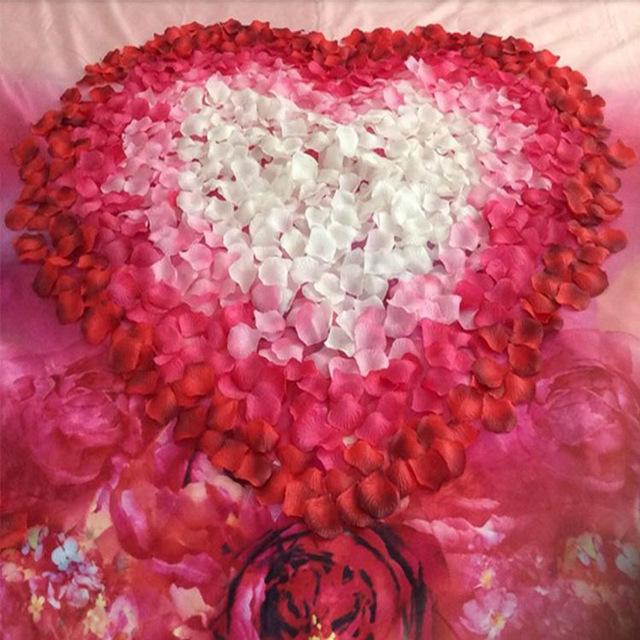 BacklakeGirls 2016 nowe Hurtownie 1000pcs/wiele aturalne kwiaty poliester dekoracje ślubne płatki róż kwiat Patal