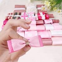 Rosa Stile DIY Accessori Per Capelli Grosgrain Stampato Nastro di Raso Chiffon Jacquard Nastri di Pizzo di Cotone Misto 32YDS Ribbon Set N-