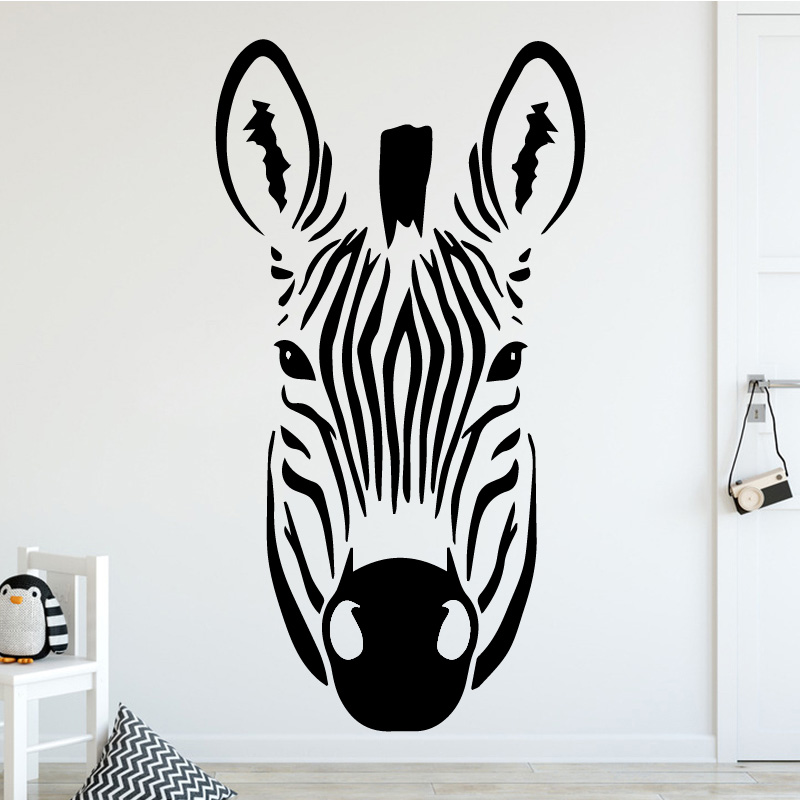Animal Zebra Pattern Wall Sticker for Living Room Background Accessories Creative Design Wall Decal Vinyl Art Stickers Poster