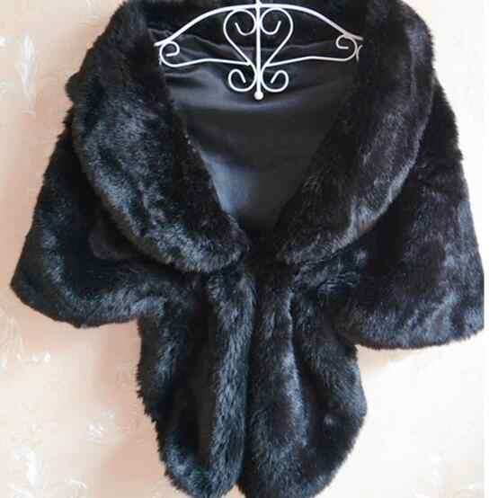 שחור לבן פו פרווה שכמיות 2019 חיקוי מינק ארנב פרווה מעיל צעיף קצר גלימת קרדיגן פונצ 'ו בולרו AH500