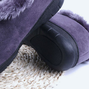 Image 4 - Men Winter Soft Slippers Plush Male Home Shoes Indoor Man Warm Slippers Shoes
