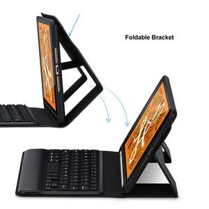 Image 4 - SeenDa clavier sans fil pour iPad Mini 5 sans fil Bluetooth clavier étui à rabat clavier couverture en lin pour iPad Mini 5