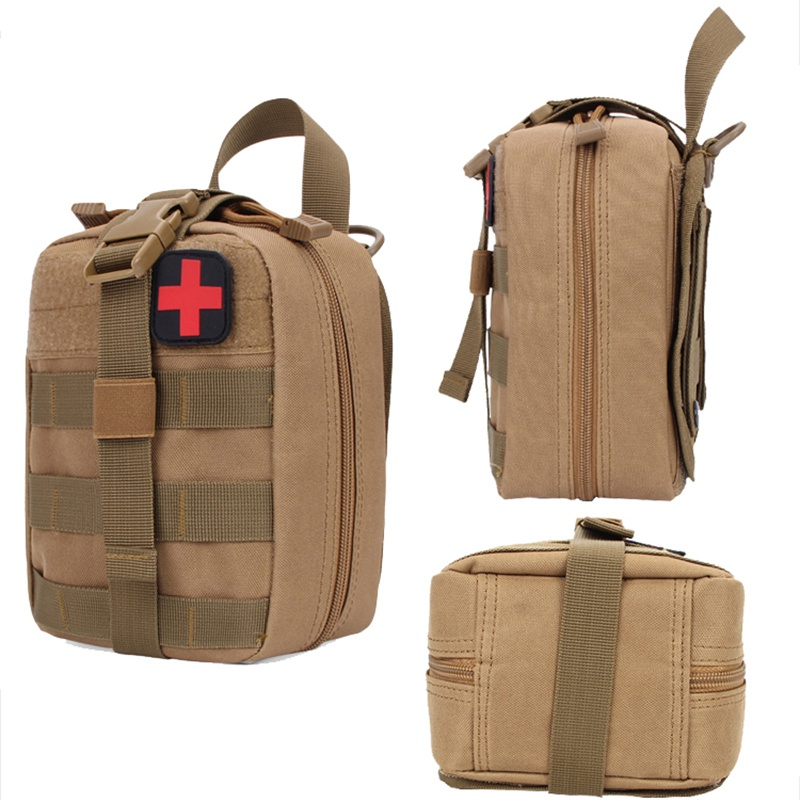 Image 3 - Hot Outdoor Molle Medical Package Utility Tactical Pouch Medical First Aid Kit Patch Bag Cover Hunting Emergency Survival Bag-in Safety & Survival from Sports & Entertainment