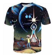 High quality Cool T-shirt Men or Women hot 3d Tshirt Print rick and morty 1 Short Sleeve Summer Tops Tees fashion free shipping