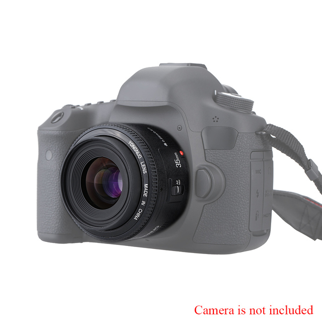 YONGNUO YN35mm F2 Lens Camera Lens for Nikon Canon EOS YN35mm Lenses AF MF Wide Angle Lens for 600D 60D 5DII 5D 500D 400D 650D 6