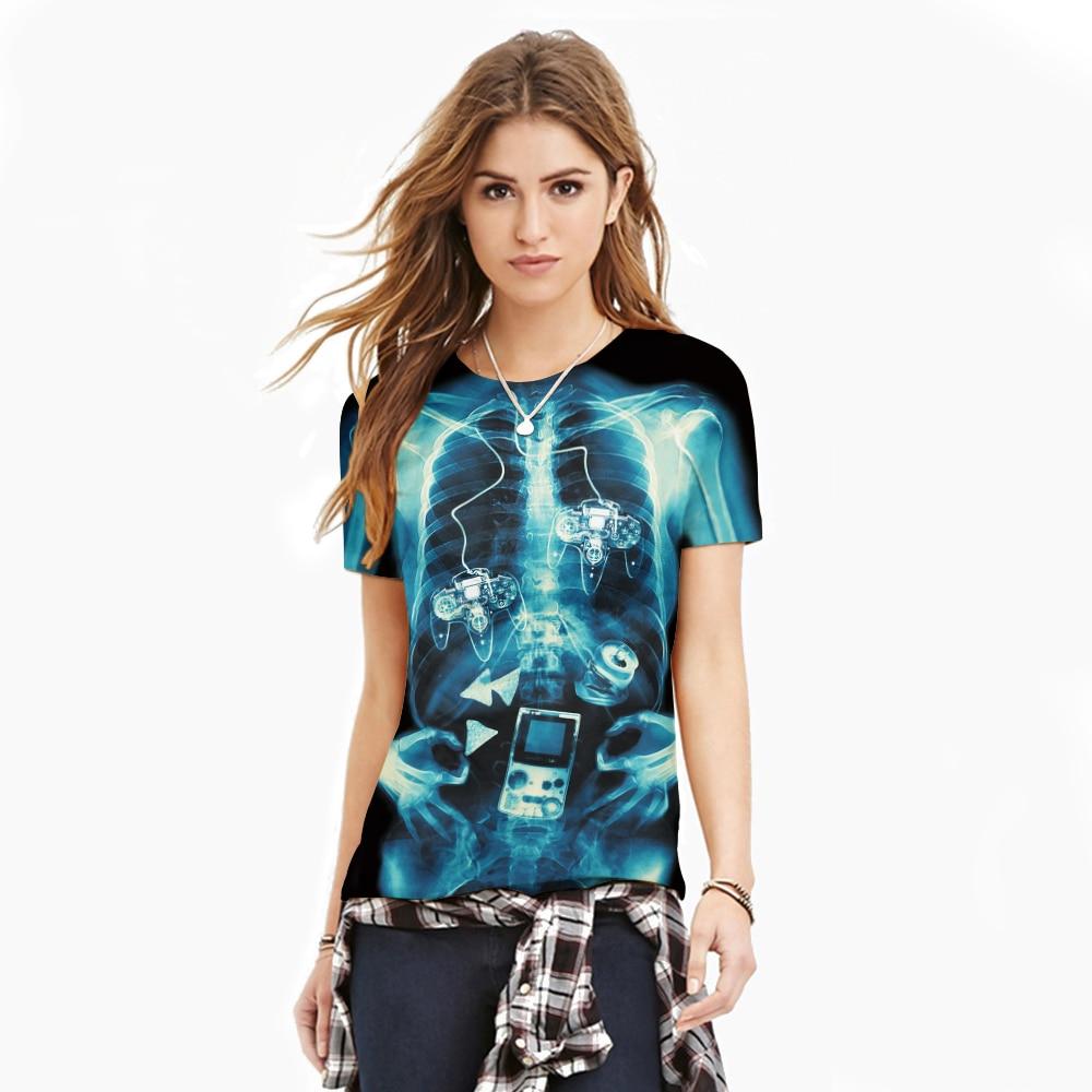 T shirt design uk cheap - Harajuku 3d Womens Fashion Tshirts American Apparel Sexy Punk Skull T Shirts Casual Summer Tee Tops