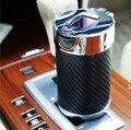Carbonia botella Ceniza Cenicero Del Coche iluminación nocturna Universal Solar LED indicador de Color: NEGRO o BLANCO accesorios del coche de Carbono