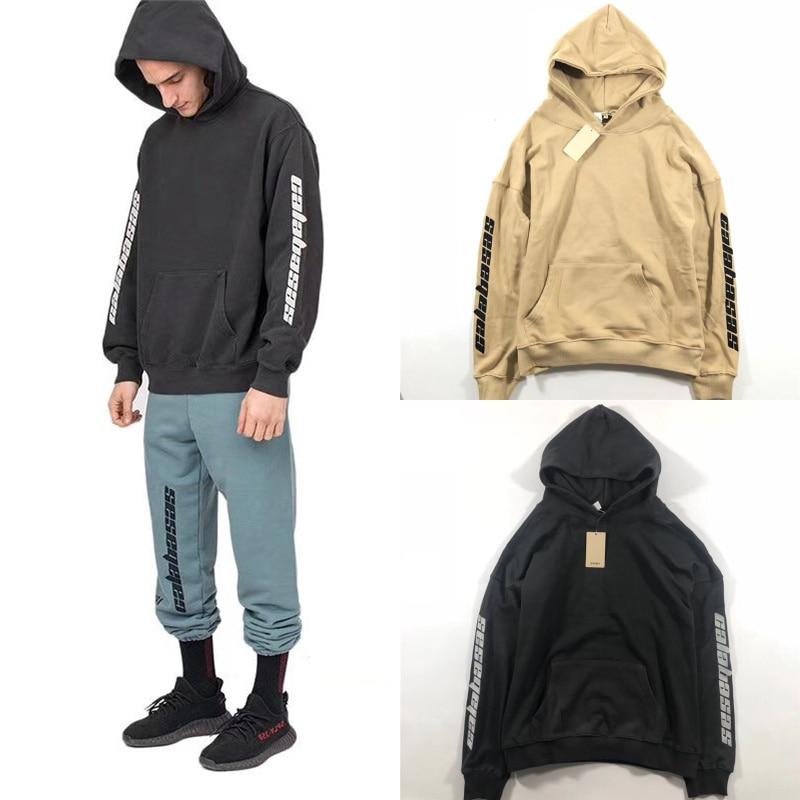 294580260 Season 5 Embroidery Calabasas Hoodies Men Women 1 1 High Quality Kanye West  Hip Hop Sweatshirts Pullover Season 5 Hoodies