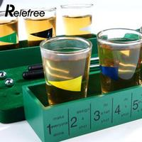 Glasses Golf Table Game Relax Bar Wine Game Mini Indoor Golf Drinking Game Leisure Enjoyment
