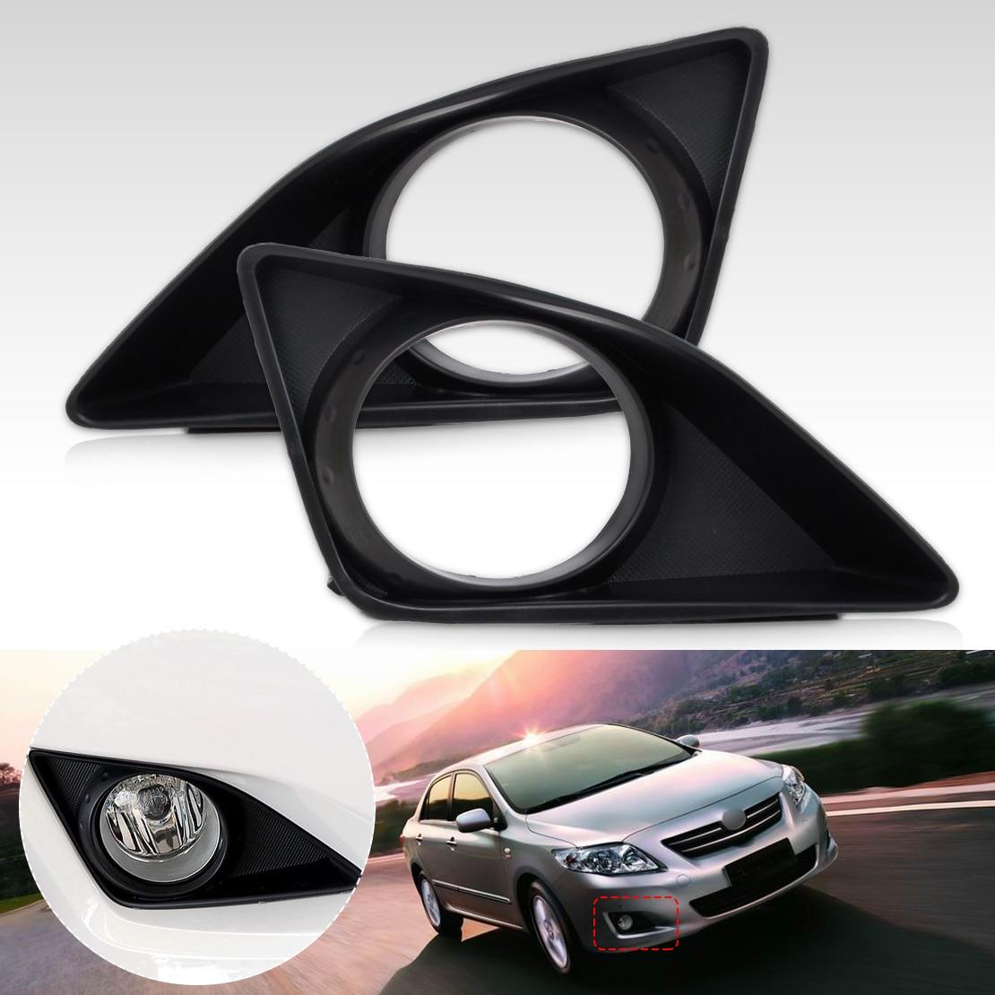 DWCX Front Right + Left Fog Light Lamp Grille Cover Foglight Bezel For Toyota Corolla 2007 2008 2009 2010