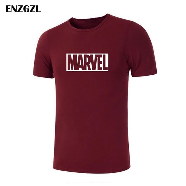 5cdad8a9 2019 New Marvel T-shirt Men Superhero print Cotton t shirt O-neck comic  Short Sleeve shirts tops men clothes Tee M-5XL E3933